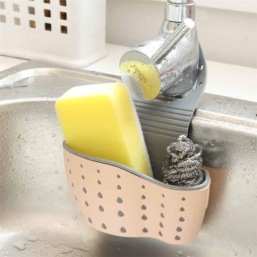 Lavabo raf sabun sünger drenaj raf banyo tutucu mutfak depolama vantuz mutfak düzenleyici lavabo mutfak aksesuarları hiçbir HN28