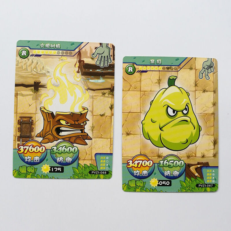 240pcs/set Plants Vs Zombies Big Wave Beach Cards Plants Zombies Platinum Collect Card Pea Shooter Sunflower Trade Card Kid Toy 6