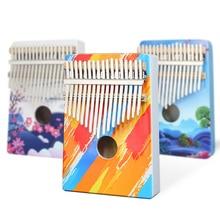 KERUS Kalimba 17 клавиш цвет дерево портативный палец пианино подарки для детей и начинающих пианино Профессиональный окрашенный инструмент