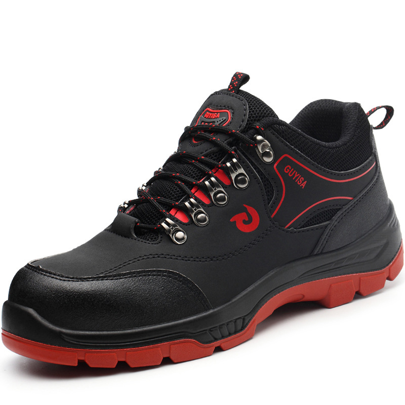 Comfortable Steel Round Toe Breathable Men Work Shoes Puncture-Proof
