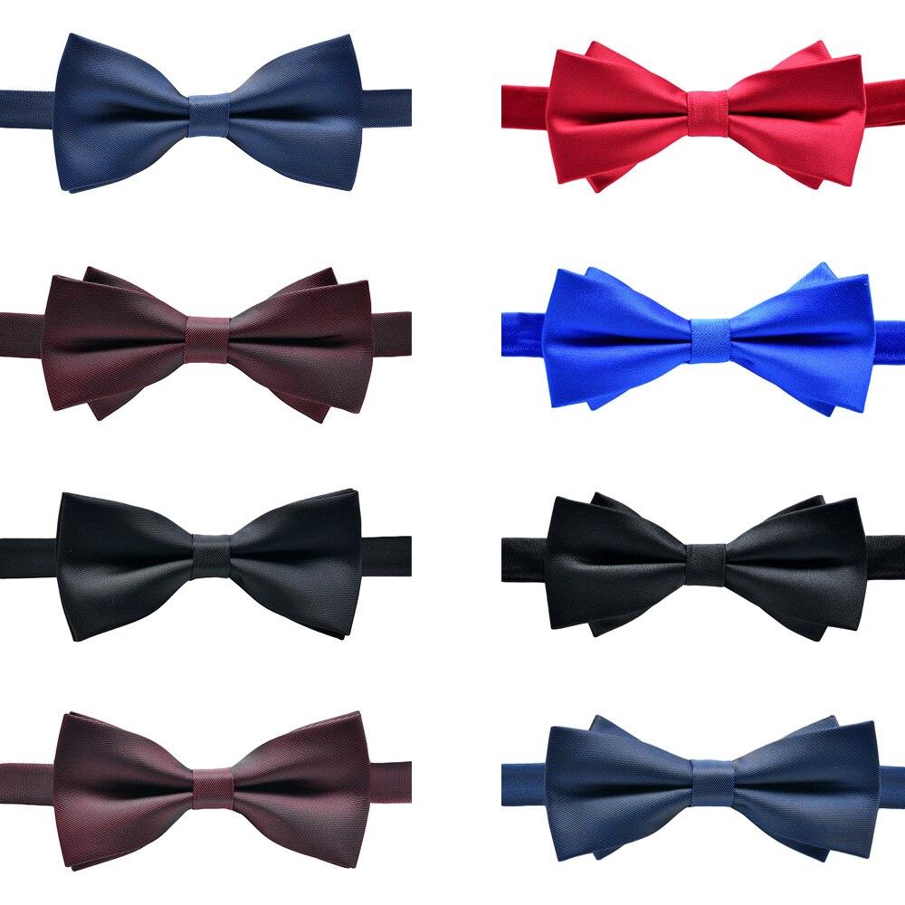 Мужской простой предварительно завязанный смокинг с алмазным наконечником галстук-бабочка из полиэстера в полоску галстук-бабочка