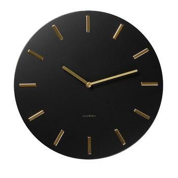 Luxury Modern Wall Clock Simple Art Silent Black Wall Clock American Living Room Orologi Da Parete Fashion Round Clocks MM60WC