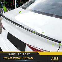 Audi a3 2017-2019 자동차 스타일링 뒷 트렁크 스포일러 립 테일 윙 트림 커버 프레임 스티커 외장 액세서리