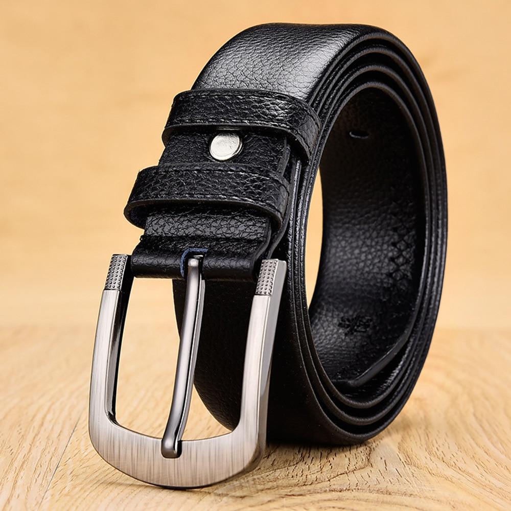 140 150 160cm Plus Size Belts For Men Pin Buckle Leather Vintage Waist Straps Big Large Size Belt Accessories Cinto Masculino