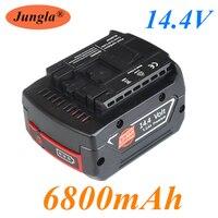 Pacchetto ricaricabile della batteria dello li-ione di 14.4V 6800mah per il cacciavite elettrico senza cordone BAT607,BAT607G,BAT614,BAT614G del trapano di BOSCH