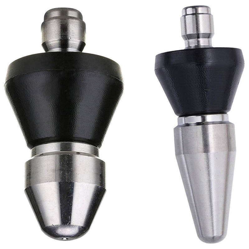2Pcs Pressure Washer Sewer Jet Nozzle, Quick Connect Pipe Cleaning Water Nozzle, 1/4 Inch 5000 Psi Orifice