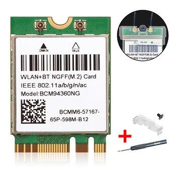 Для Hackintosh mac os BCM94360NG BCM94360CS2 802.11AC WiFi 867 Мбит/с WLAN Беспроводная карта Bluetooth 4,0 NGFF M.2 адаптер сети