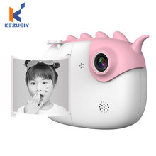Детская камера Мгновенной Печати с тепловой фотобумагой 3,0 дюймовый сенсорный экран 28MP 1080P HD Детская Цифровая камера для фото-и видеосъемки ...
