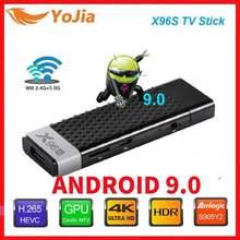 4gb 32gb x96 mini pc 5g wifi bt 9.0 leitor de mídia dongle 4k caixa de tevê esperta do andróide 4.2 da vara da tevê x96s amlogic s905y2 ddr3