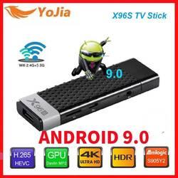 Смарт-ТВ палка для Android 9,0 ТВ коробка X96S Amlogic S905Y2 DDR3, 4 Гб оперативной памяти, 32 Гб встроенной памяти, X96 Мини ПК 5G Wi-Fi BT 4,2 ТВ ключ 4 к HD медиа плеер