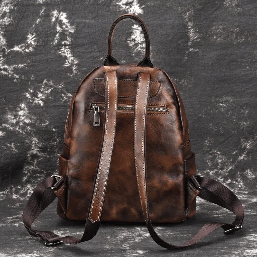 GO LUCK ยี่ห้อผู้หญิงกระเป๋าเป้สะพายหลัง Vintage หนังวัวแท้กลับทุกวันสุภาพสตรีแฟชั่นกระเป๋าเดินทางกระเป๋าเป้สะพายหลัง-ใน กระเป๋าเป้ จาก สัมภาระและกระเป๋า บน   3