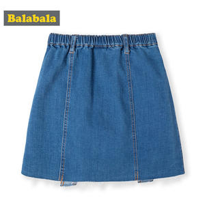Image 3 - Balabala Children wear girls short skirt 2019 new summer skirt big girl fashion denim skirt tide