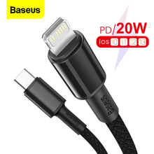 Baseus PD 20W USB Type C Cable For iPhone 12 Pro Max 11 Xs X Fast Charging For iPad Air 2020 USB C Phone Charger Cable Data Wire