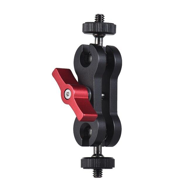 """جهاز المراقبة الميدانية LED الفيديو الضوئي هيكل قفصي الشكل للكاميرا Andoer توضيح ماجيك الذراع رصد جبل ث/مزدوجة ballhead + 1/4 """"برغي للكاميرا"""