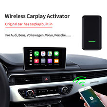 Kanor apple carplay ativador sem fio para audi porsche wv volvo auto conectar carplay adaptador sem fio
