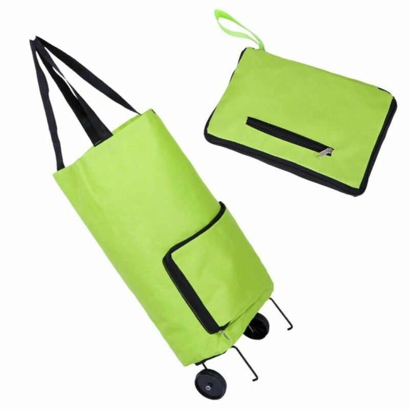 1Pcs Creative Shopping Cart Portable Folding Shopping Bag Trolley Cart Lightweight Foldable Luggage Wheels Bag Market Trolleys