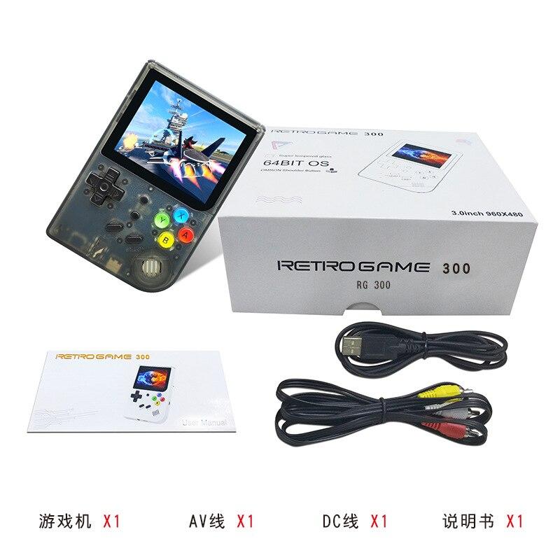RG300 pouces jeux vidéo Portable rétro FC console rétro jeu jeux de poche Console joueur RG 300 16G 3000 jeux Tony système