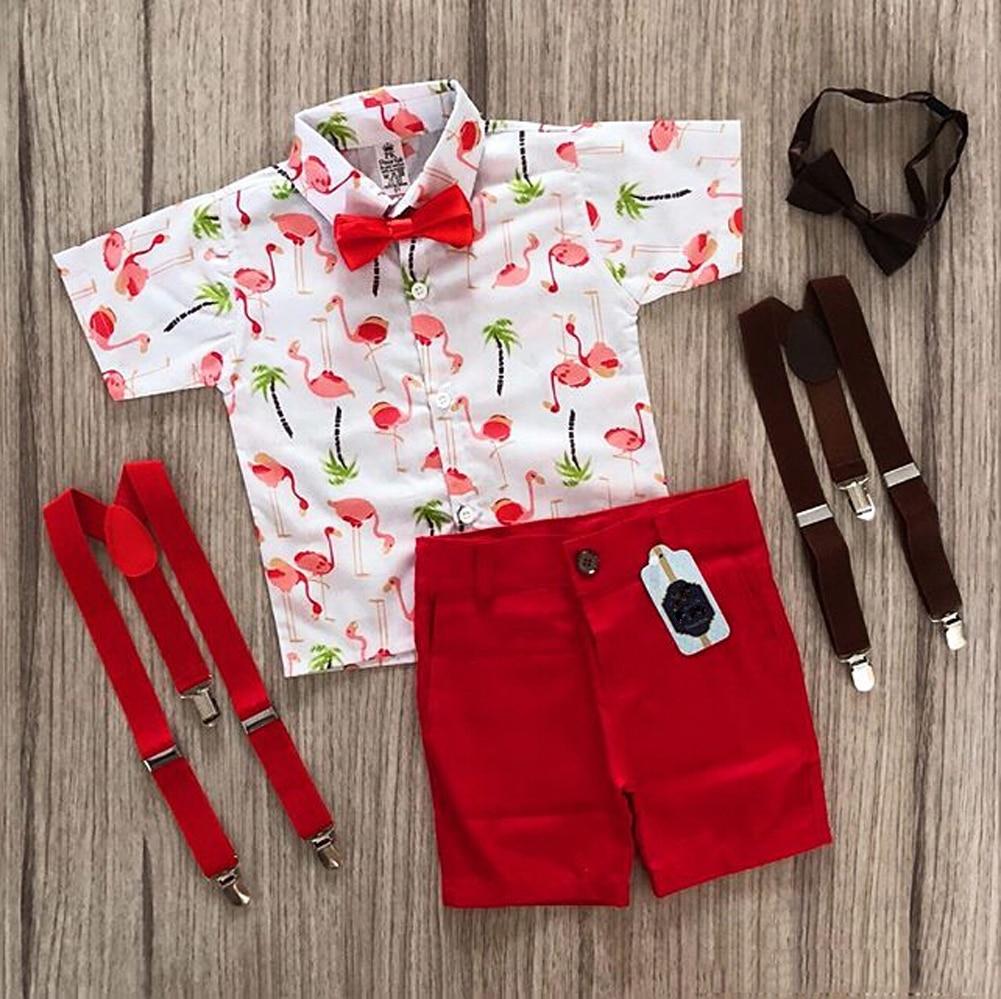 Летняя одежда для маленьких мальчиков 2020, наряды, 2 шт., пляжная одежда, праздничная Детская футболка с галстуком бабочкой для мальчиков + шорты, костюмы для джентльменов, От 1 до 5 лет|Комплекты одежды|   | АлиЭкспресс