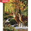 HUACAN Painting By Number Deer Animal Drawing Canvas Acrylic Handpainted Wall Art Pictures By Number Gift Home Decor