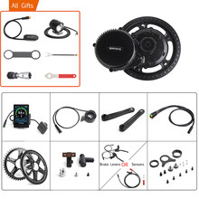 Bafang 48v 750w mid drive engrenagem sensor chave luzes kits de motor completos 8fun bb02b bicicleta elétrica conversão 68-73mm 44t-52t