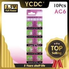 YCDC 10x1,55 V Кнопка монета батарея батареи AG6 AG-6 LR920W CX69 SR920SW Щелочная монетная кнопка для часов