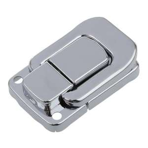 Silver Tone Métal Spring Loaded Cases Boxes Chest Toggle Catch Latch