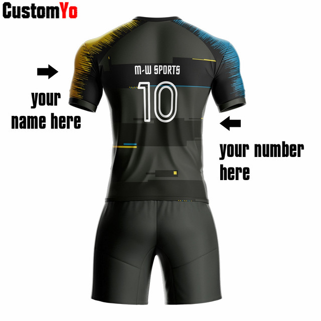 Hot Sale Wholesale Soccer Uniform Customized Big Size Football Set Soccer Kit