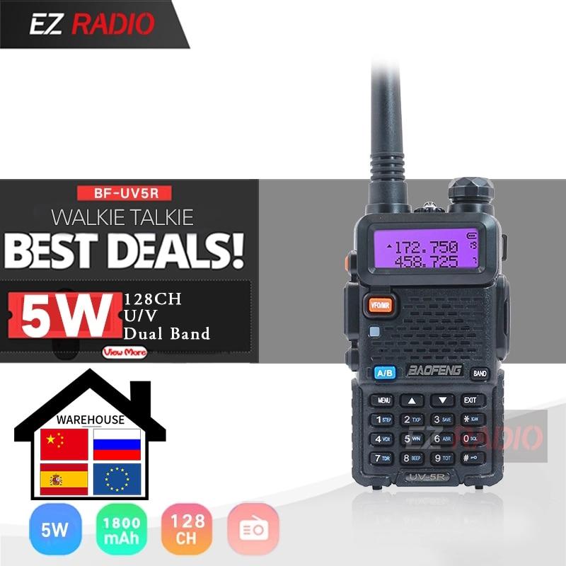 Original Baofeng UV-5R Walkie Talkie Dual Display Dual Band Baofeng UV5R Portable 5W UHF VHF Two Way Radio Pofung UV 5R