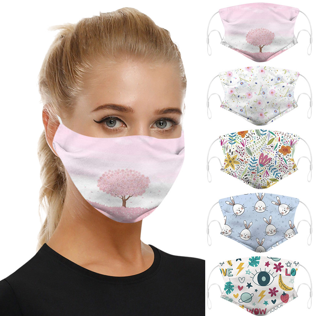Washable Reusable Breathable Mouth Masks Face Shiled Universal Dust-proof Smog-Washable Mask For Adult In Europe And America 1PC