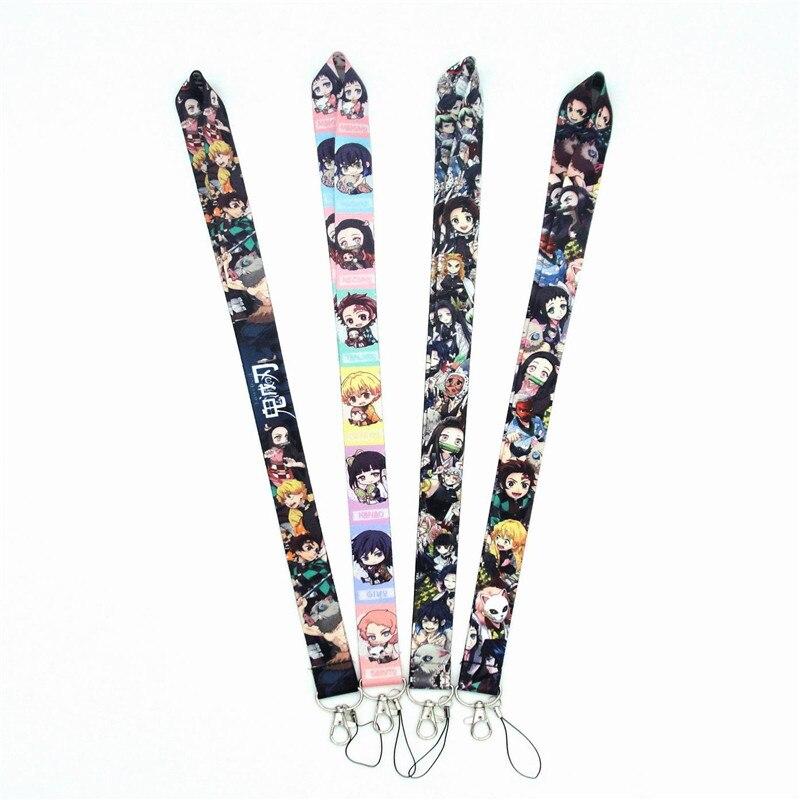 Demon Slayer: Kimetsu No Yaiba Lanyard Neck Strap Lanyard Mobile Phone Key Chain Cosplay Prop Accessories Neck Strap ID Lanyards