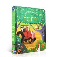 Echa un vistazo dentro de la granja libros educativos originales en inglés para bebé regalo de la primera infancia para niños   -