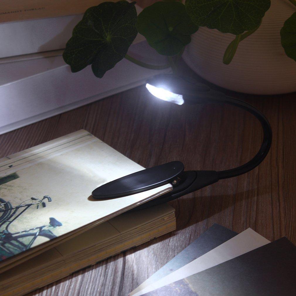1 pièces Mini Flexible clipsable livre lumineux lumière ordinateur portable blanc LED livre lampe de lecture dans le monde entier livraison directe plus récent recherche chaude