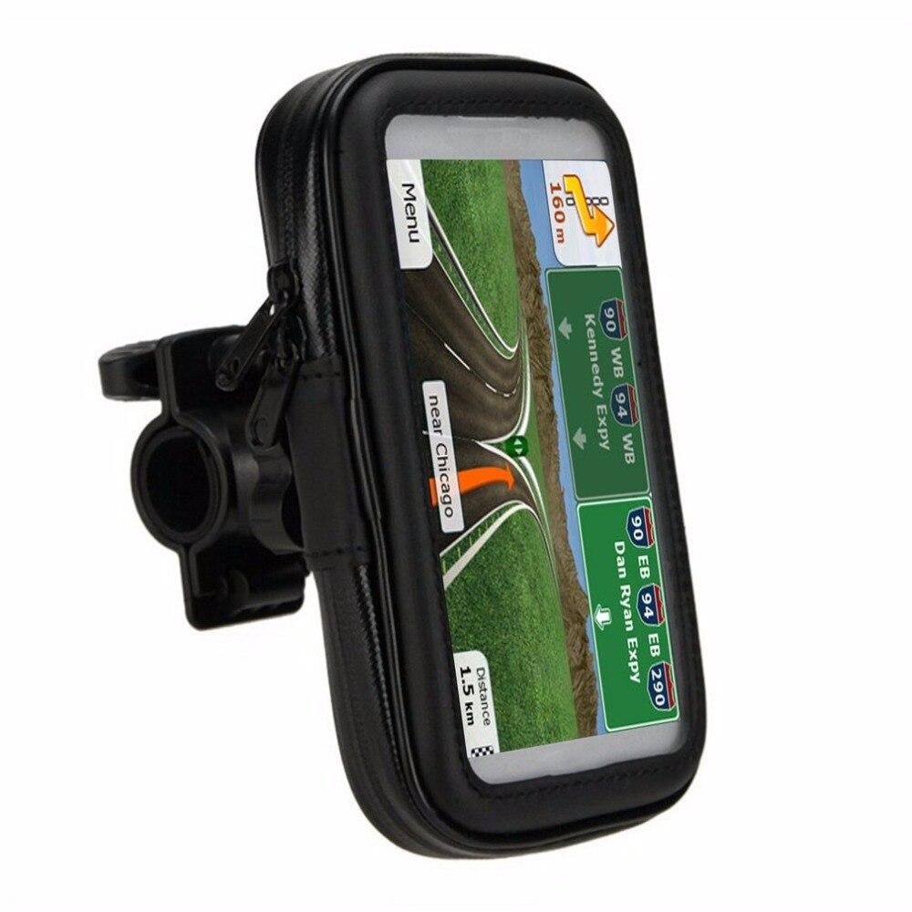 Universal Bike Mobile Phone Holder Waterproof Outdoor Vehicles Motorcycle Phone Bracket Portable GPS Navigation Case Rack