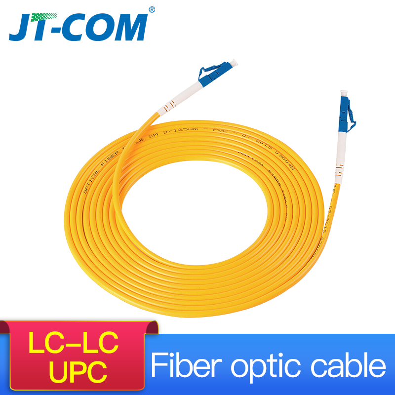 LC UPC To LC UPC Simplex 2.0mm 3.0mm PVC Single Mode Fiber Patch Cable Fiber Optic Patch Cord