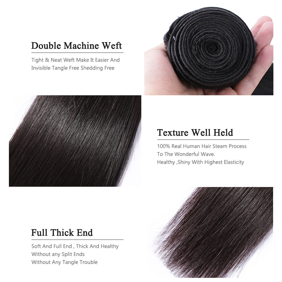 Straight Bundles Virgin Hair Bundles 40 Inch Long   Natural  Bundles  Bone Straight Hair 6
