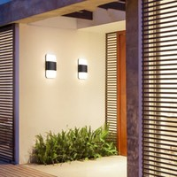 12W LED 알루미늄 벽 램프 베란다 라이트 벽 Sconce 광장 야외 방수 벽 조명 정원 조명 현대 계단 벽 조명