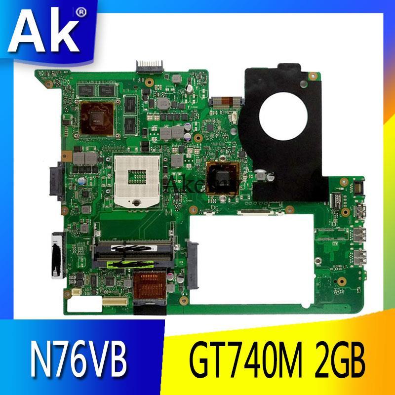 AK N76VB Laptop Motherboard For ASUS N76VZ N76VM N76VJ N76V Test Original Mainboard GT740M/GT720/GT650M 2GB HM76