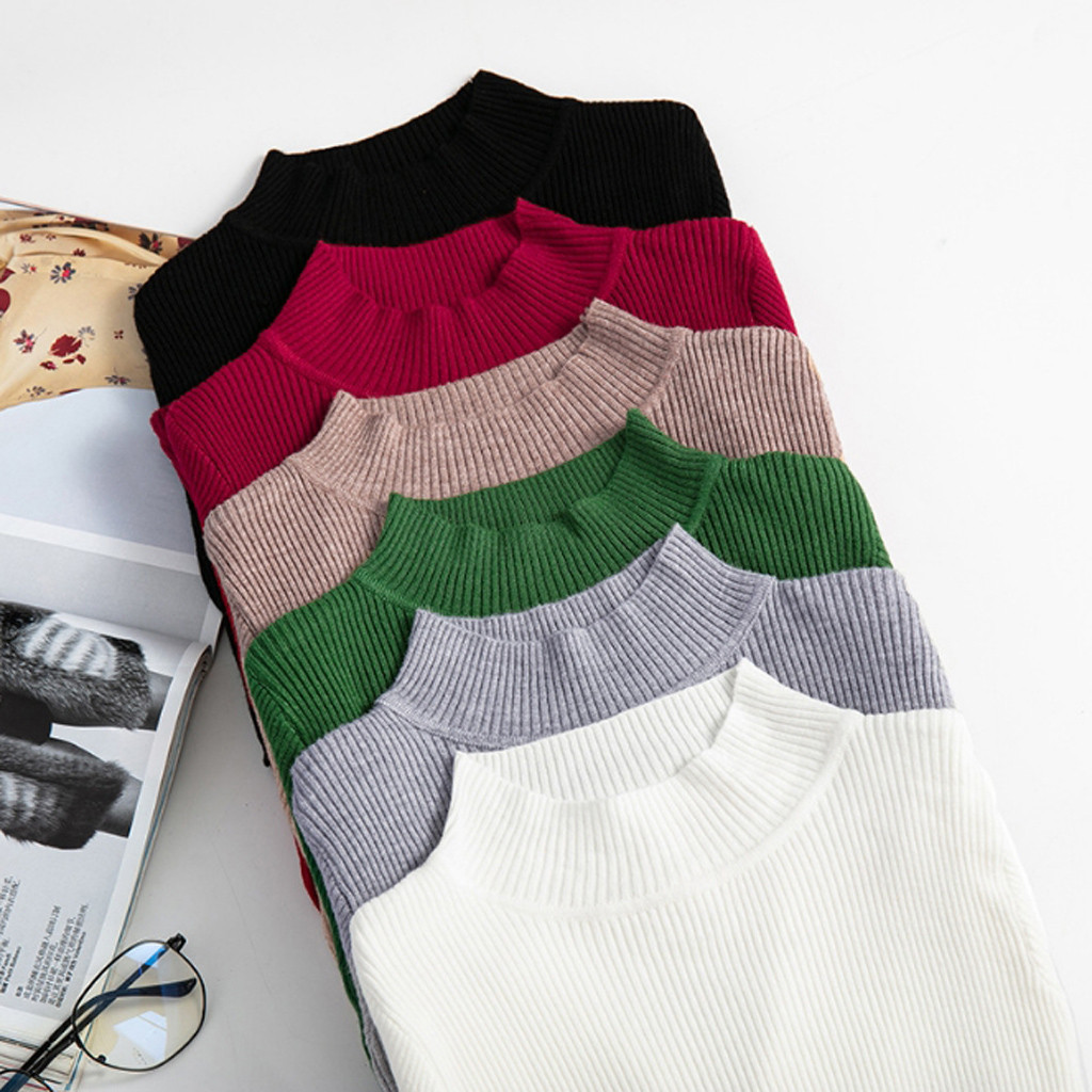 SAGACE Winter Knitting Sweater Pullovers Women Long Sleeve Tops Turtleneck Knitted Sweater Chic Clothes Female Casual Streetwear