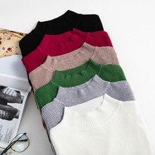 SAGACE Winter Knitting Sweater Pullovers Women Long Sleeve Tops Turtleneck Knitt