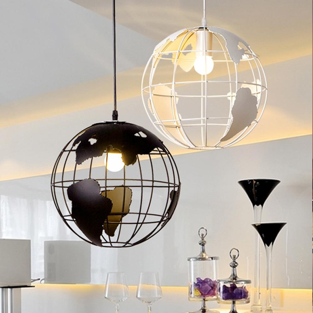 Modern Global Earth Pendant Lights Suspension Luminaire Hanging Lamp Living Room Restaurant Home Lighting Fixtures