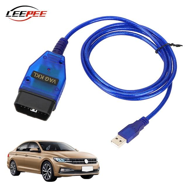 LEEPEE Car Accessories OBD2 USB Diagnostic Cable Scanner VAG COM 409 KKL Scan Tool Interface For VW Audi Seat Volkswagen Skoda