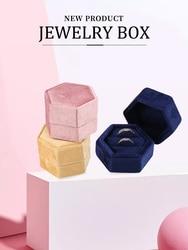 Jewelry Case Custom Romantic Sweet Luxury Small Velvet Engagement Ring Earring Box