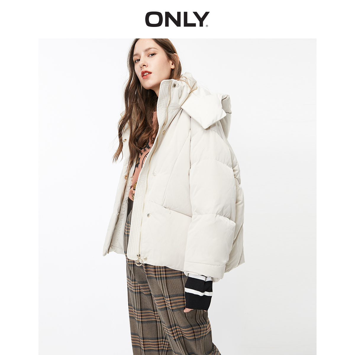 ONLY Autumn Winter ONLY Winter Loose Fit Short Down Jacket | 119323507