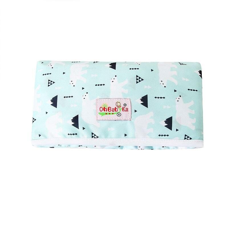 Новые 3 в 1 Водонепроницаемый пеленальный коврик пеленки мнчества, Портативный чехол для детских подгузников коврик чистой ручной складной сумка из узорчатой ткани - Цвет: HND05