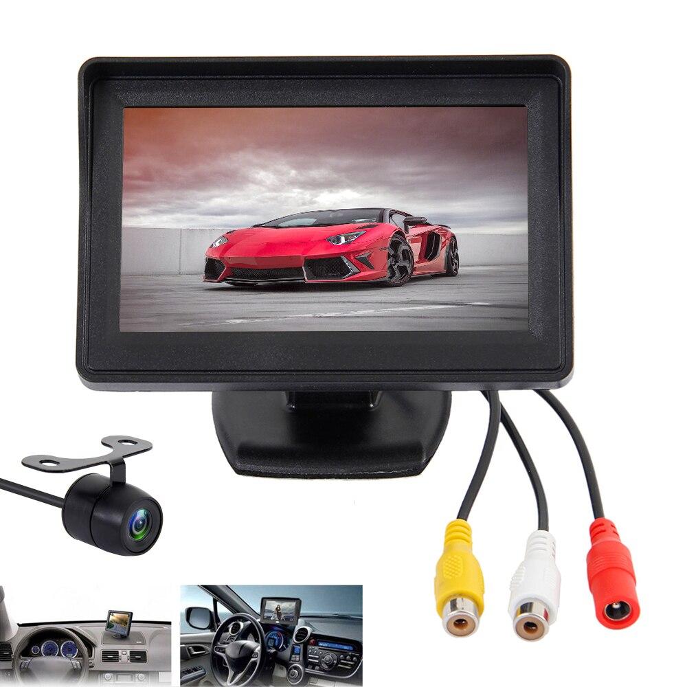 4,3 Zoll Auto Monitor TFT LCD Screen Display Rückansicht Kamera Rückfahr Monitore mit Auto Rückfahr Parkplatz Sicherheit spiegel