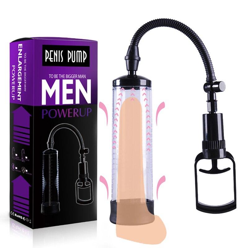 Насос для пениса, секс-игрушки для мужчин, вакуумный насос для увеличения пениса, удлинитель мужского пениса, мастурбатор, тренажер для пени...