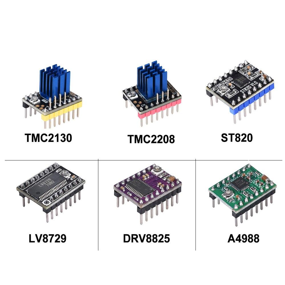 TMC2208 TMC2130 ST820 A4988 Drv8825 Stepper Motor Driver StepStick Reprap RAMPS 1.4 MKS GEN  L V1.4 SKR V1.4 3D Printer Parts