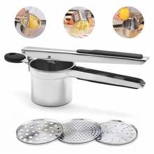 Stainless Steel Potato Discs Fruit Vegetable Masher Juicer Squeezer Food Press Machine Kitchen Tools
