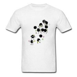 Spirited away totoro fuligem sprites t camisa dos homens 2020 mais novo natureza algodão teesshirt moda manga curta camiseta homem roupas de marca