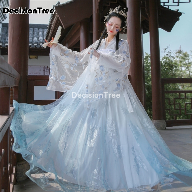 Disfraz de hada hanfu para mujer, traje chino antiguo, traje de la dinastía tang para mujer, trajes de festival de princesa, traje de baile 2021